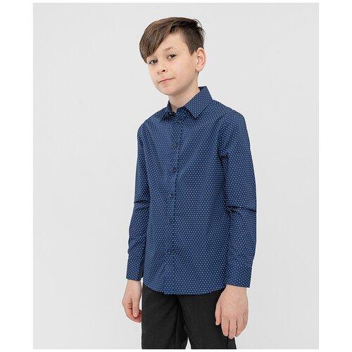 Купить Рубашка Button Blue размер 134, серый, Рубашки
