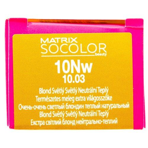 Купить Matrix Socolor Beauty стойкая крем-краска для волос, 10NW очень-очень светлый блондин теплый натуральный, 90 мл