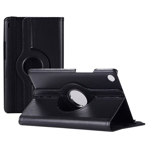Чехол-подставка MyPads для Huawei MediaPad M2 10.0 M2-A01W/ L 10.1 на пластиковой основе кожаный поворотный роторный оборотный с трансформацией в подставку черный