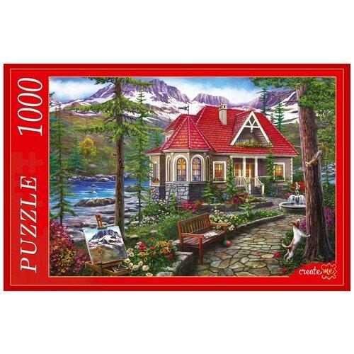 Рыжий Кот Пазл Рыжий кот 1000 деталей: Красивый Дом У Озера