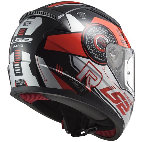 Шлем LS2 FF353 RAPID STRATUS Gloss Black Red Silver (S, Gloss Black Red Silver)