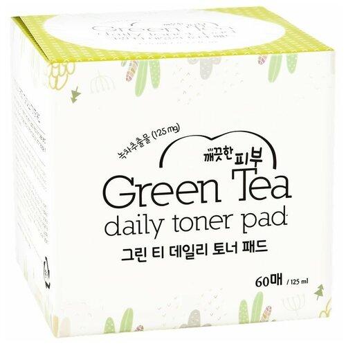 Купить Диски для лица `ESFOLIO` отшелушивающие с экстрактом зеленого чая и AHA-кислотами 60 шт