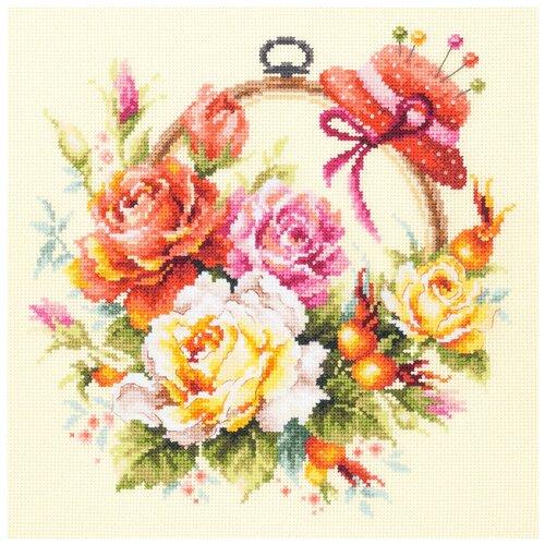 Чудесная Игла Набор для вышивания Розы для мастерицы 25 x 25 см (100-122) чудесная игла набор для вышивания пионы для умелицы 25 х 25 см 100 124