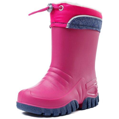 Резиновые сапоги playToday Light magic 382215 размер 32, розовый/темно-серый