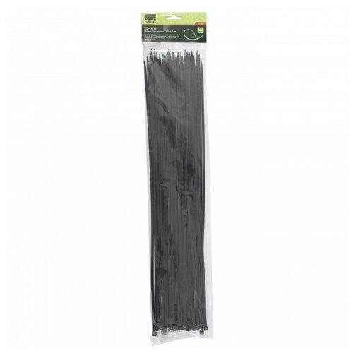 Хомуты пластиковые, черные, 500x4,8 мм, 50 штук