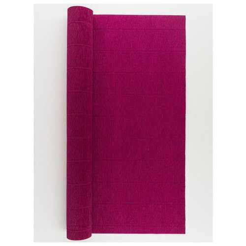 Бумага гофрированная 50см х 2, 5м., 180г/м., Cartotecnica Rossi, 584 бордовый, Цветная бумага и картон  - купить со скидкой
