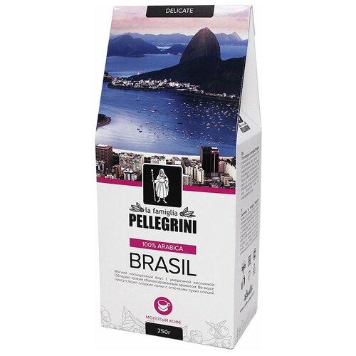 Фото - Кофе молотый la famiglia Pellegrini BRASIL, 250 г кофе молотый samba cafe brasil rico 250 г