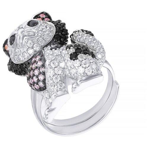 Фото - JV Серебряное кольцо с кубическим цирконием SYR18X003B-KO-001-WG, размер 18 jv серебряное кольцо с кубическим цирконием dm0026r ko 001 wg размер 18