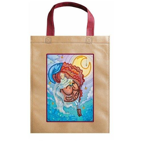 Набор для вышивания бисером АБРИС АРТ ACA-009 сумка Сон рукодельницы 15,5х20,5 см