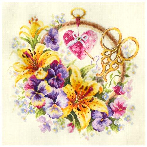 Чудесная Игла Набор для вышивания Лилии для рукодельницы 25 x 25 см (100-121) чудесная игла набор для вышивания пионы для умелицы 25 х 25 см 100 124