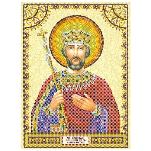 Схема для вышивки иконы бисером на холсте АБРИС АРТ АСK-030 Святой Константин 17х23мм