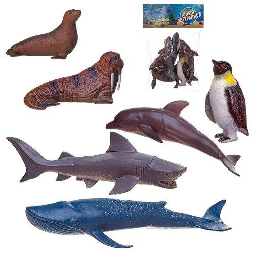 Фото - Игровой набор ABtoys Юный натуралист Фигурки морских животных, 6 штук игровые наборы abtoys набор морских животных в чемоданчике юный натуралист