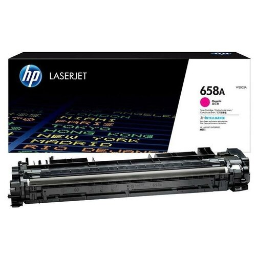 Фото - HP W2003A Тонер-картридж оригинальный 658A пурпурный (красный) Magenta 6K для LaserJet M751dn M751 тонер картридж hp 658a 6000стр пурпурный