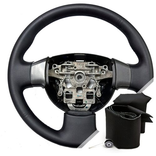 Оплетка на руль Nissan Almera Classic (2006-2013) - черная нить