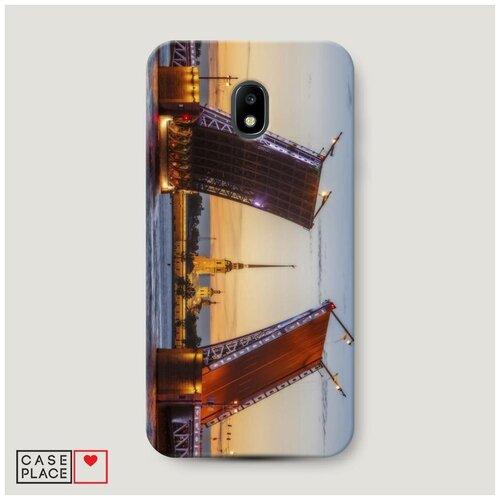 Чехол Пластиковый Samsung Galaxy J3 2017 Разведенные мосты в СПб 1