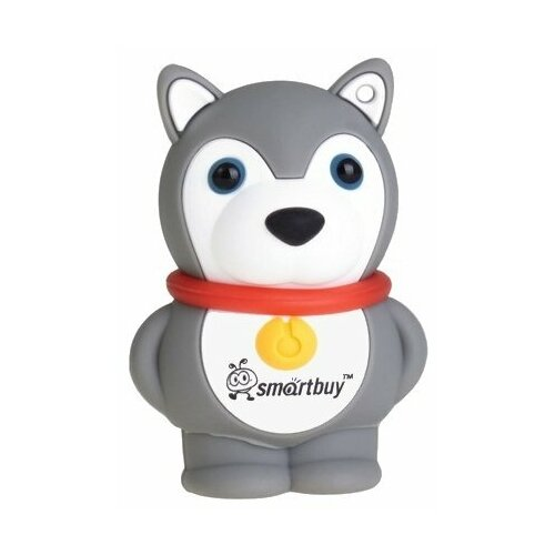 Фото - Флешка SmartBuy Wild Series Dog 16 GB, серый флешка smartbuy wild series cow 16gb 16 гб белый