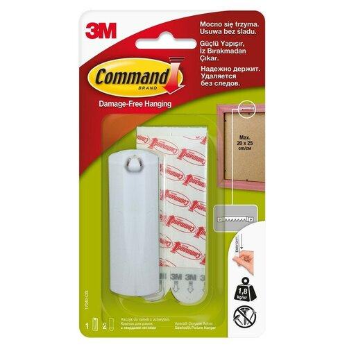 Крючок Command белый д/картин 1,8 кг., 1 шт./2 пол.17040 2 шт.