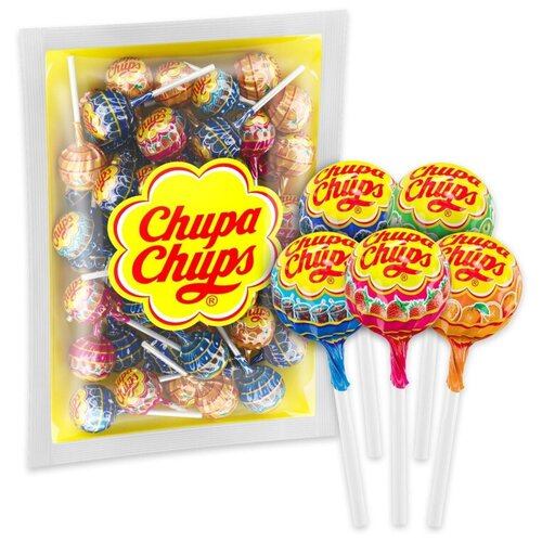 карамель chupa chups xxl flavors playlist ассорти 60 шт Карамель на палочке Chupa Chups ассорти 504 г, 42 шт./уп