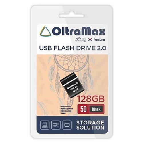 Фото - USB Flash Drive 128Gb - OltraMax 50 2.0 Black OM-128GB-50-Black usb flash drive 16gb oltramax 50 om 16gb 50 dark violet