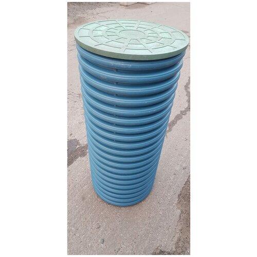 Колодец дренажный смотровой диаметр 460/400 длина 2,0м. без отверстий, с приварным дном и полимерной крышкой