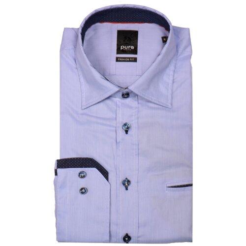 Рубашка pure размер S голубой/белый