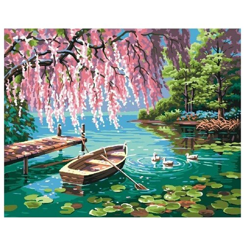 Картина по номерам GX 9871 Уточки и лодочка 40*50 картина по номерам gx 9871 уточки и лодочка 40 50