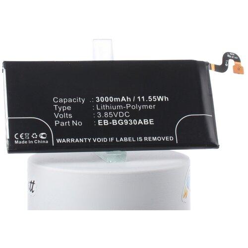 Аккумуляторная батарея iBatt 3000mAh для Samsung SM-G930F, SM-G930V, SM-G930A, SM-G930P, SM-G930T, SM-G930R4, SM-G9308