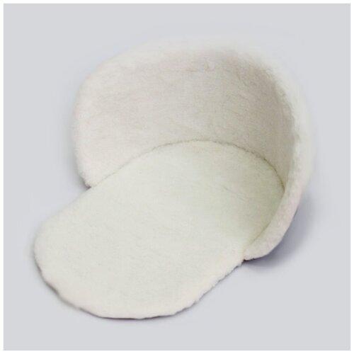 Утеплитель для санок Барс меховой, овчина, белый