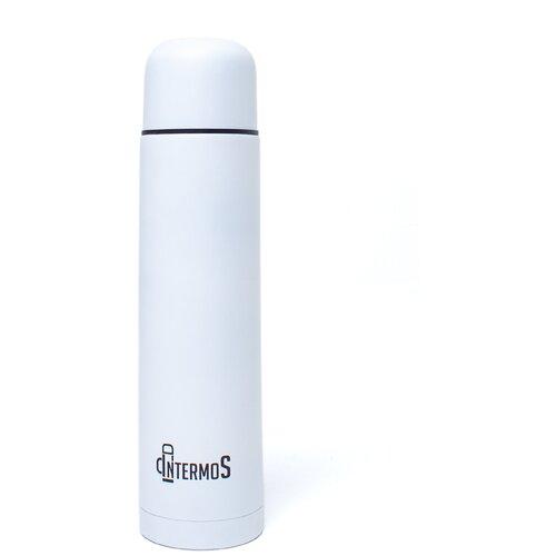 Intermos / Классический термос 1л/ Туристическая посуда/Металлический белый/ Для чая/Походная кухня