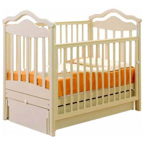 Кровать детская GANDYLYAN К-2005-1м Анжелика маятник универсальный (слоновая кость) gandylyan кроватка gandylyan дашенька маятник универсальный орех