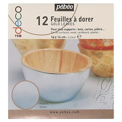 Купить Набор листовой потали Pebeo 14*14 см, 12 шт, под серебро, Наборы для декупажа
