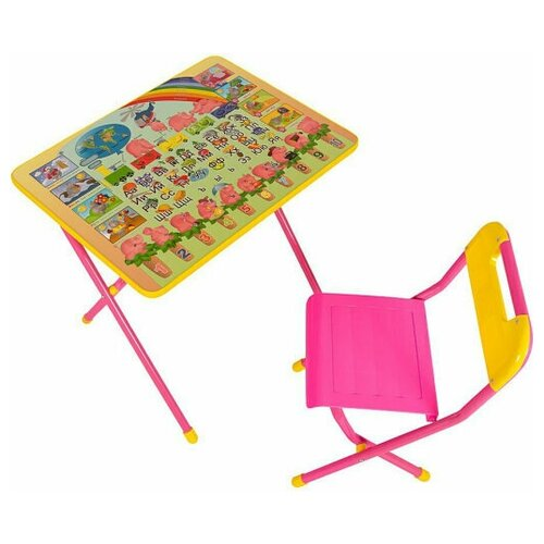 Набор мебели Дэми №3/1 (розовый) - Слоники детские столы и стулья дэми набор мебели 1 радуга