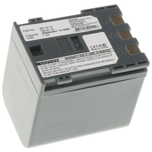 Аккумуляторная батарея iBatt 2000mAh для Canon NB-2L12, NB-2L14, BP-2LH