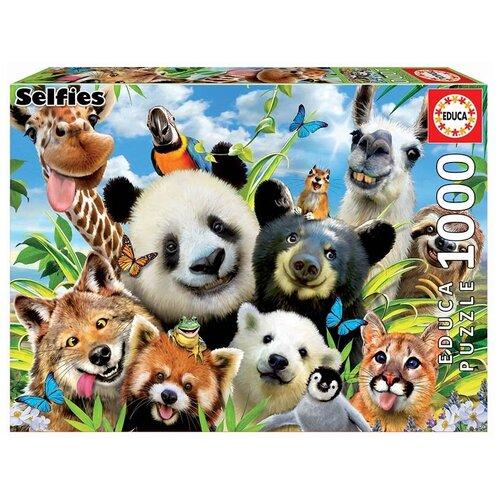 Фото - Пазл Educa 1000 деталей Селфи с ламой пазл educa мир банкнот 1000 деталей