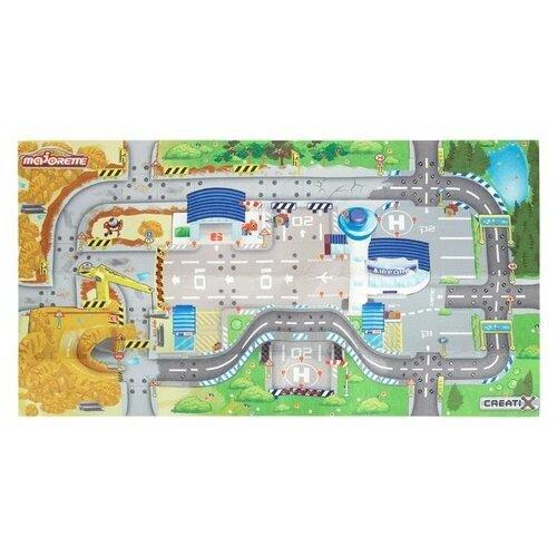 Купить Игровой коврик Creatix Construction, Majorette (размер коврика 96х51 см, 1 машинка, 2056412), Игровые коврики