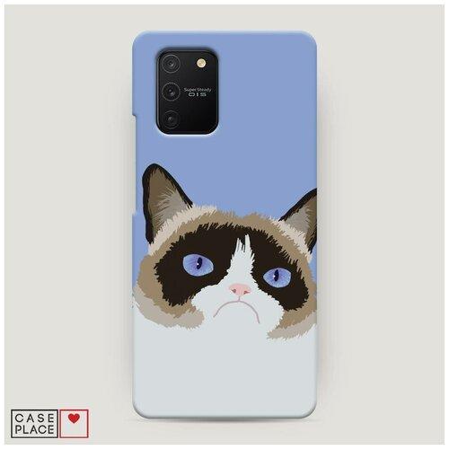 Чехол Пластиковый Samsung Galaxy A91 Мем грустный кот