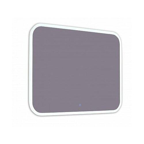 Зеркало Континент Demure LED 120*70 см, LED подсветка, сенсорный выключатель, часы, антизапотевание
