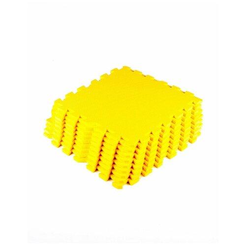 Мягкий пол универсальный Желтый с кромками 30*30(см),9 деталей мягкий пол eco cover универсальный 30х30 см сад огород 9 деталей