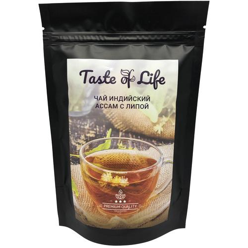 Ассам с липой, типсовый, T.G.F.O.P., индийский черный чай. Taste of life. 100 гр. чай черный типсовый цейлонский высшей категории s f t g f o p шри ланка taste of life 100 гр