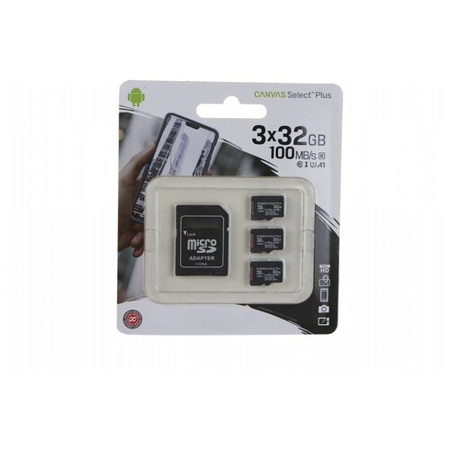 Фото - Карта памяти 32Gb - Kingston Micro Secure Digital HC Class10 UHS-I Canvas Select SDCS2/32GB-3P1A с переходником под SD (Оригинальная!) карта памяти micro securedigital 32gb kingston canvas select plus sdhc class 10 uhs i sdcs2 32gb sd адаптер