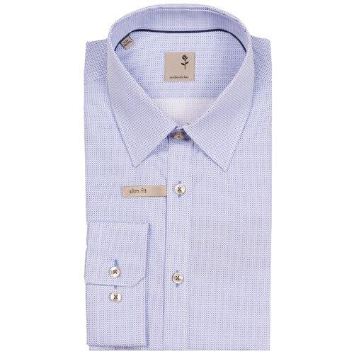 Рубашка Seidensticker размер 41 синий/белый