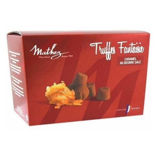 Конфеты MATHEZ Французские трюфели с криспами карамель с солью нетто 100г