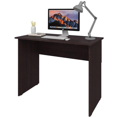Фото - Письменный стол СитиМебель компактный, ШхГ: 140х50 см, цвет: венге цаво письменный стол ситимебель компактный шхг 140х50 см цвет венге цаво