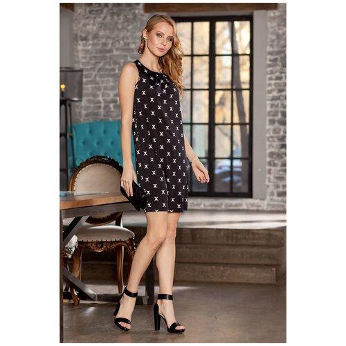 брюки ruxara ruxara mp002xw0f72l Черное платье без рукавов со звездочками RUXARA (7516, черный, размер: 42)