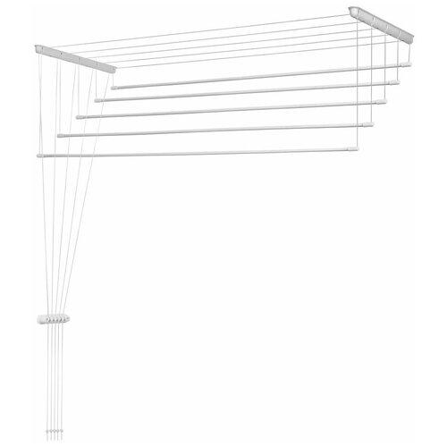 Фото - Сушилка для белья ЛакМет Лиана, потолочная, 5 линий, длина 1.2м. сушилка для белья лакмет лиана потолочная 7 линий 1 8м 116610