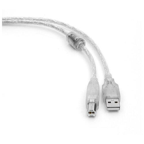 Аксессуар Gembird Cablexpert Pro USB 2.0 AM/BM 4.5m Transparent CCF-USB2-AMBM-TR-15 аксессуар gembird cablexpert pro usb 2 0 am bm 1 8m transparent ccf usb2 ambm tr 6