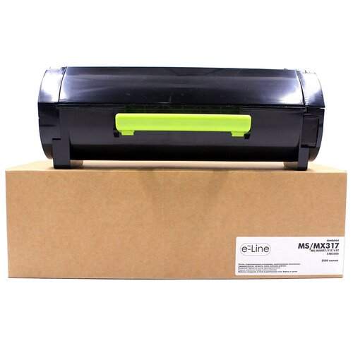 Тонер-картридж e-Line 51B5000 для Lexmark MS317, MX317 (Чёрный, 2500 стр.)