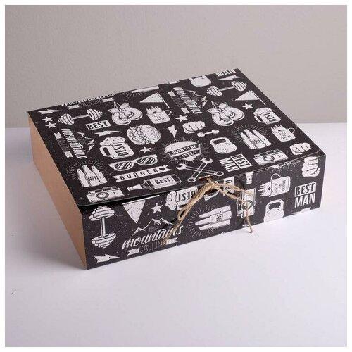Фото - Коробка складная подарочная Мужская, 31 х 24,5 х 9 см подарочная коробка дарите счастье 3122698 складная коробка с днем рождения