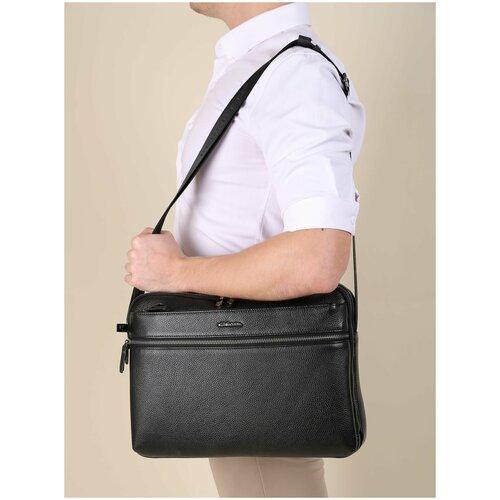 Вместительная мужская сумка на плечо/Италия, 100% натуральная кожа