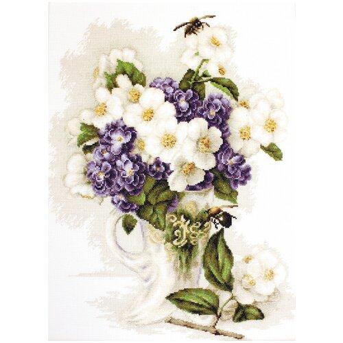 Купить Luca-S Набор для вышивания Ваза с цветами жасмина, 28.5 х 37.5 см (B512), Наборы для вышивания